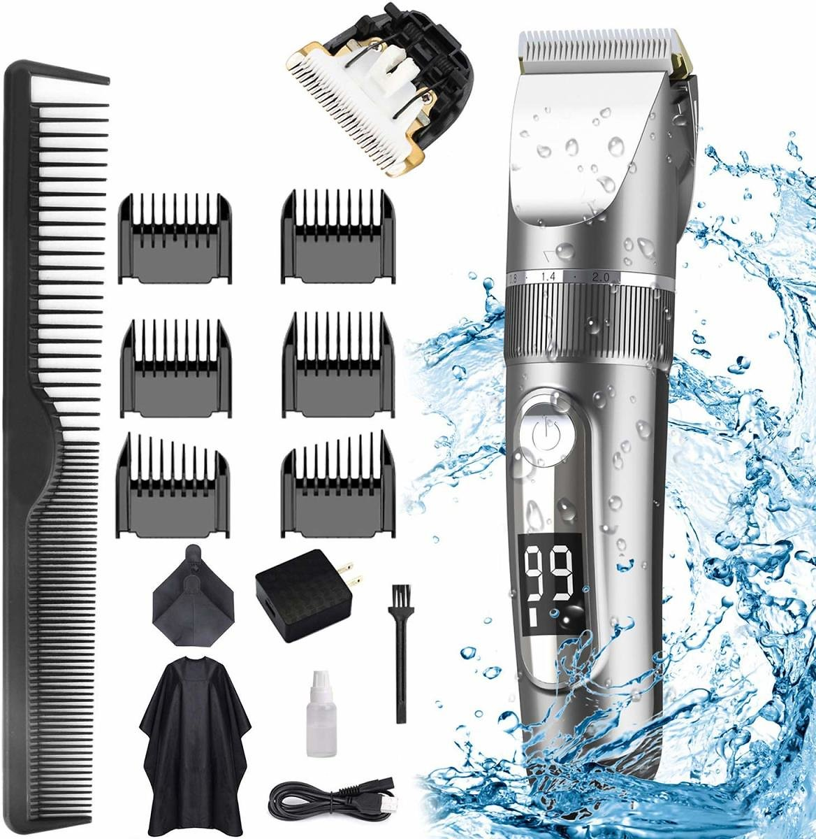 Rechargeable Hair Trimmer Kit
