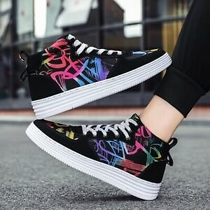 Couple Canvas Trainer Sneakers Sports Athletic Casual Walking Running Shoes
