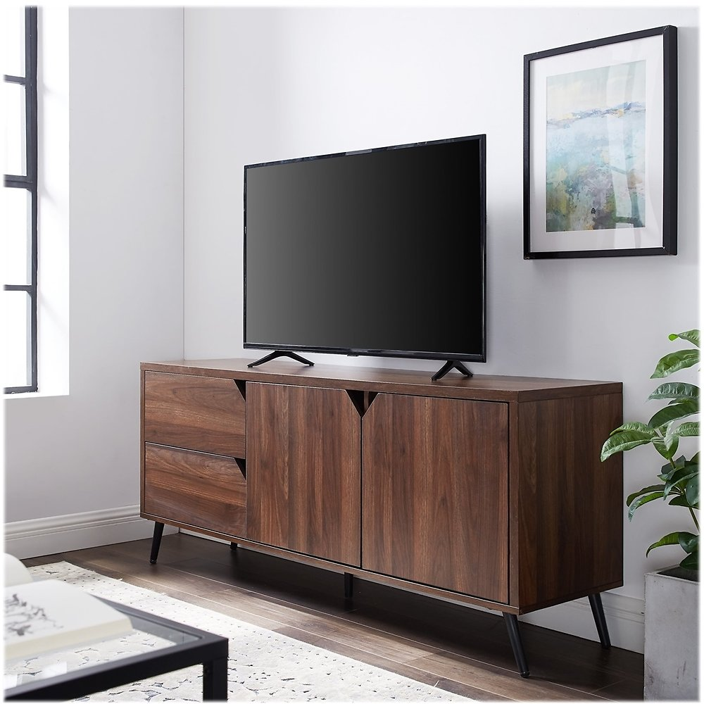Walker Edison Mid Century Modern TV Stand for Most TV's Up to 65