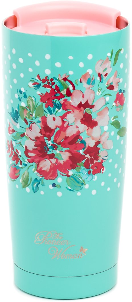 The Pioneer Woman Maverick Garden 20-Ounce Double Wall Vacuum Insulated Stainless Steel Tumbler (2 Colors)