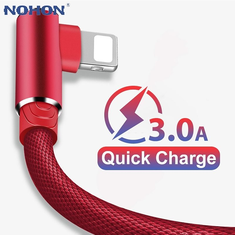 US $3.72 |90 Degree Elbow Fast Charge Charger USB Cable For IPhone 6 6s 7 8 X XS 11 Pro MAX 5 5S SE IPad Origin Cord Wire IPhon Cable 3m|Mobile Phone Cables| - AliExpress