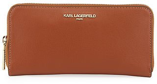 Karl Lagerfeld Paris Pebbled Leather Continental Wallet