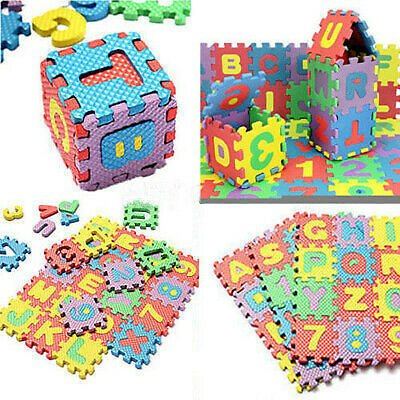 1 Set Colorful Baby Kids Educational Alphanumeric Puzzle Foam Mat Child Toy Gift