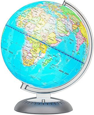 NESSTOY Little Experimenter Illuminated World Globe for Kids with Stand