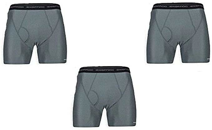 ExOfficio Men's Give-N-Go Boxer Brief 3 Pack - ONLY CHARCOAL