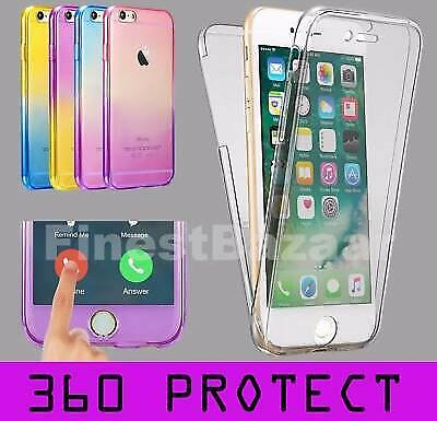 For IPhone 7 8 Plus Front & Back TPU Clear 360° Full Body Protective Case Cover