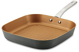 Ayesha Curry Home Collection 11.25-in. Hard Anodized Aluminum Deep Square Grill Pan