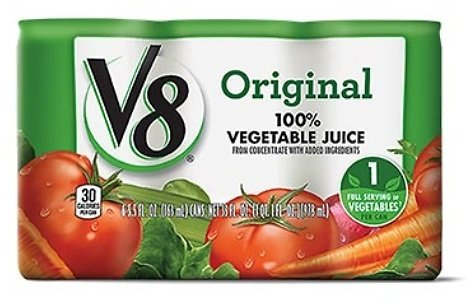 Campbell's V8 100% Juice 6-Pack Regular or Low Sodium (In Store)