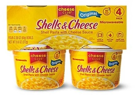 Cheese Club Shells & Cheese Cups (In Store)
