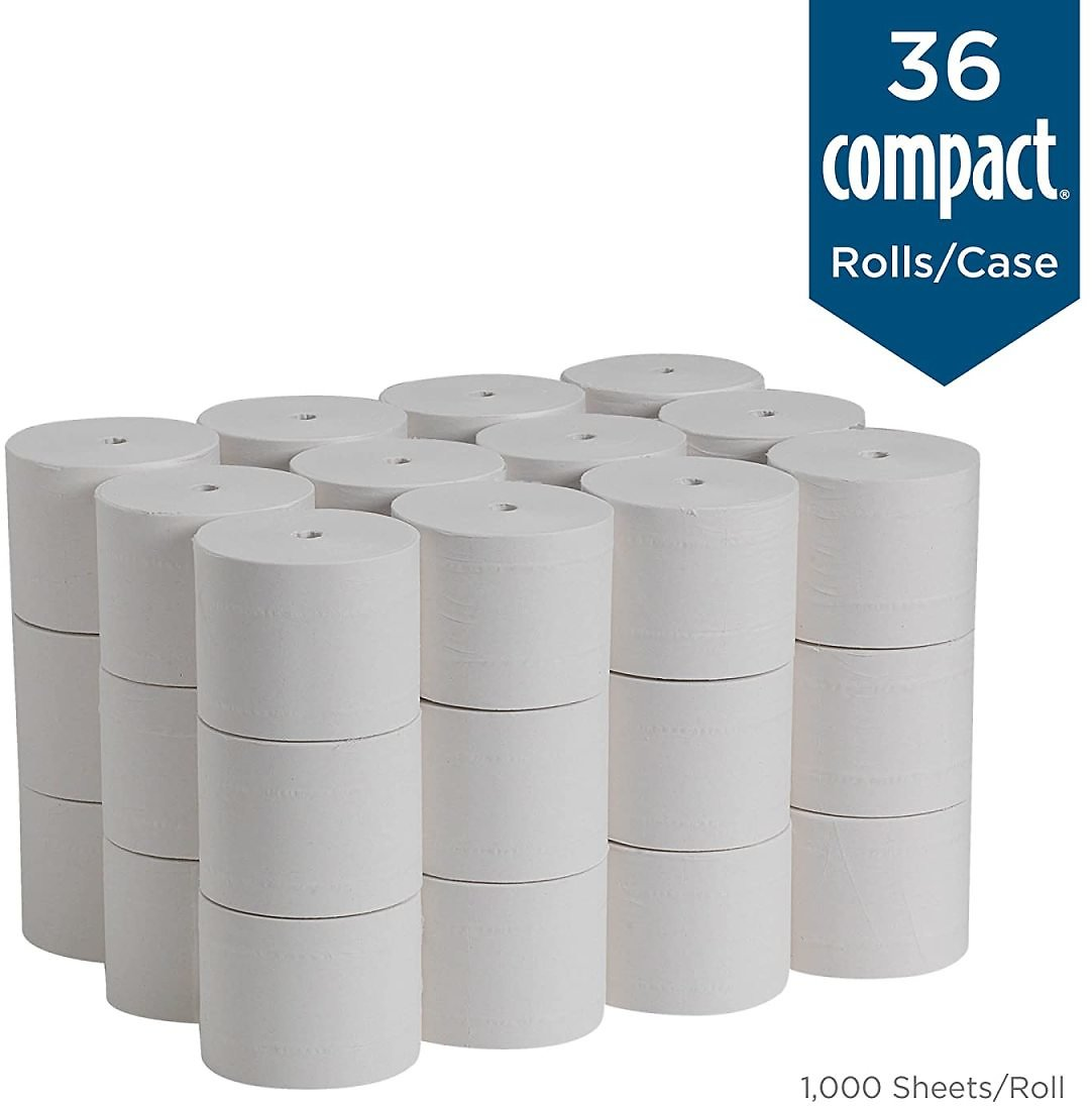 2-Ply Recycled Toilet Paper By Coreless, 1000 Sheets Per Roll, 36 Rolls Per Case