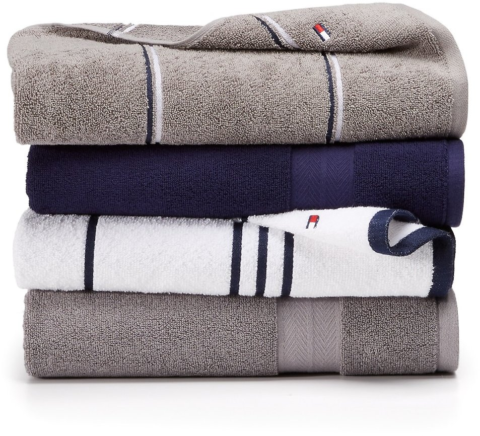 Tommy Hilfiger Cotton Bath Towels (Mult. Sizes)