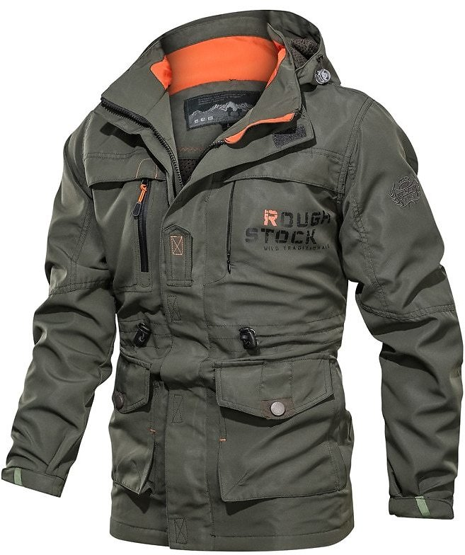US $29.33 5% OFF|NEGIZBER Men's Jacket Outdoor Windbreaker Jacket Hooded Jacket Men Multi Pocket Waterproof Military Mens Jackets And Coats|Jackets| - AliExpress