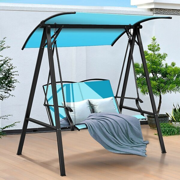 Segars Outdoor Porch Swing with Stand