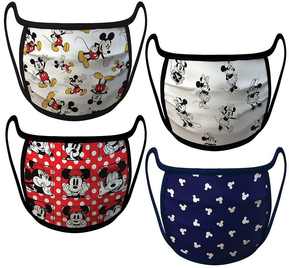 Mickey and Minnie Mouse Cloth Face Masks 4-Pack Set – Pre-Order | ShopDisney