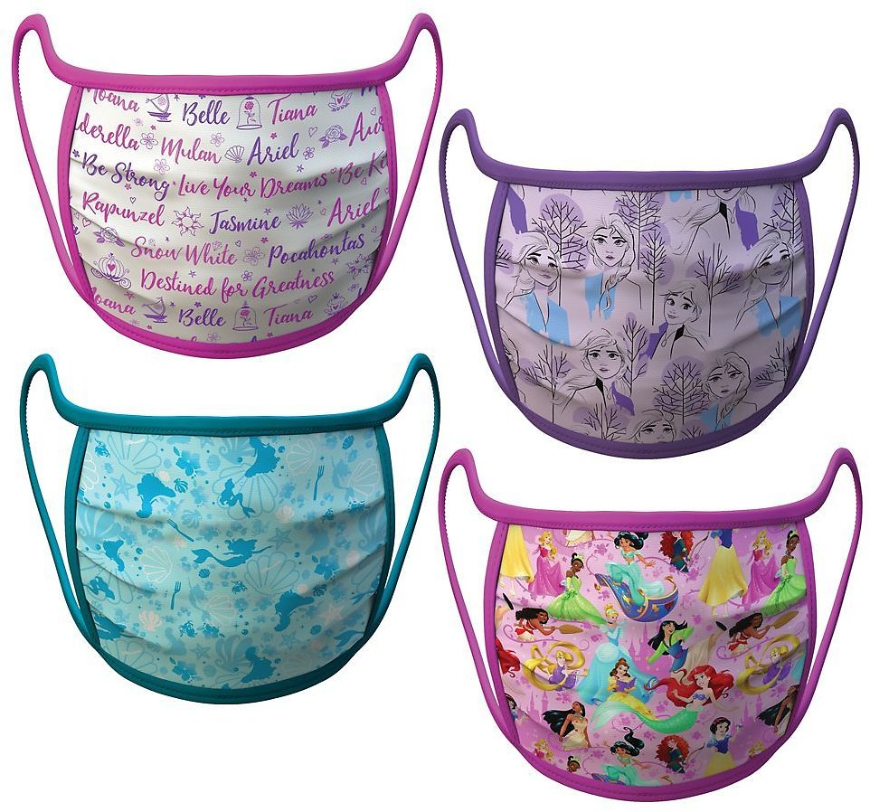Disney Princess and Frozen Cloth Face Masks 4-Pack Set – Pre-Order | ShopDisney