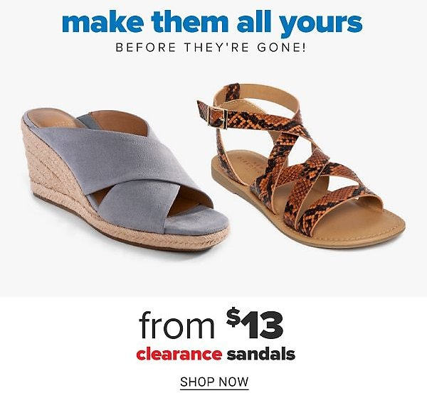 Clearance Women's Sandals & Flip Flops Starting At $13! + Extra 10% off with Pickup