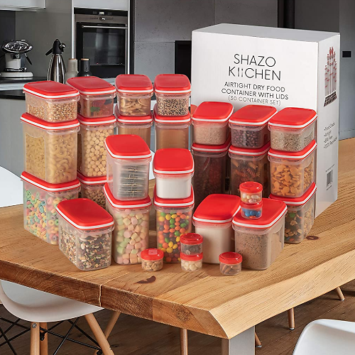 60-Pc. Airtight Food Storage Container + Ships Free