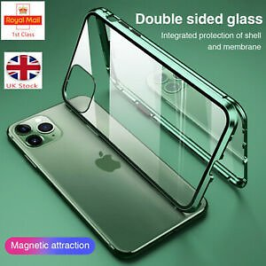 360 °Case for IPhone 11 Pro XS Max XR X Magnetic Adsorption Tempered Glass Cover