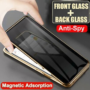 360° Anti Spy Privacy Glass Magnetic Case Cover For IPhone 11 Pro XS Max X XR 8+