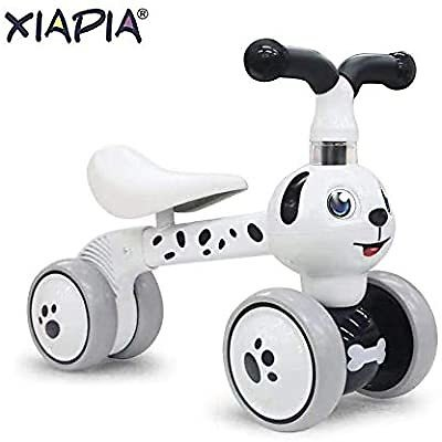 Baby Toddler Tricycle Bike No Pedals 10-36 Months Ride-on Toys Gifts Indoor Outdoor Balance Bike for One Year Old Boys Girls First Birthday Thanksgiving Christmas (Dalmatian): Sports & Outdoors