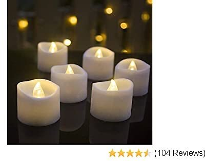 Battery Operated LED Tea Lights,Flameless Votive Tealights Candle with Warm White Flickering Bulb Light,Small Electric Fake Tea Candles Realistic for Wedding, Table, Gift,Outdoor (12pcs)