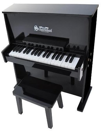 Schoenhut Toy Piano 3798B 37 Key Black Day Care Durable with Bench