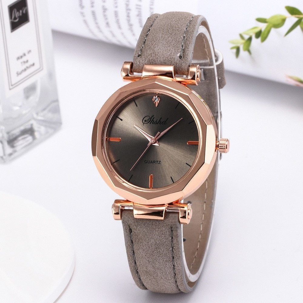 US $1.08 20% OFF|Women Watch Rhinestone Fashion Exquisite Women Leather Casual Watch Luxury Analog Quartz Crystal Wristwatch Bracelet Watch YE1|Women's Watches| - AliExpress