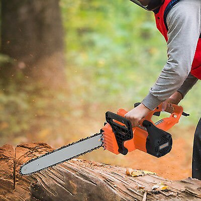 DURHAND Electric Chainsaw Garden Tools 2000 W, 40 Cm Blade Corded Aluminum
