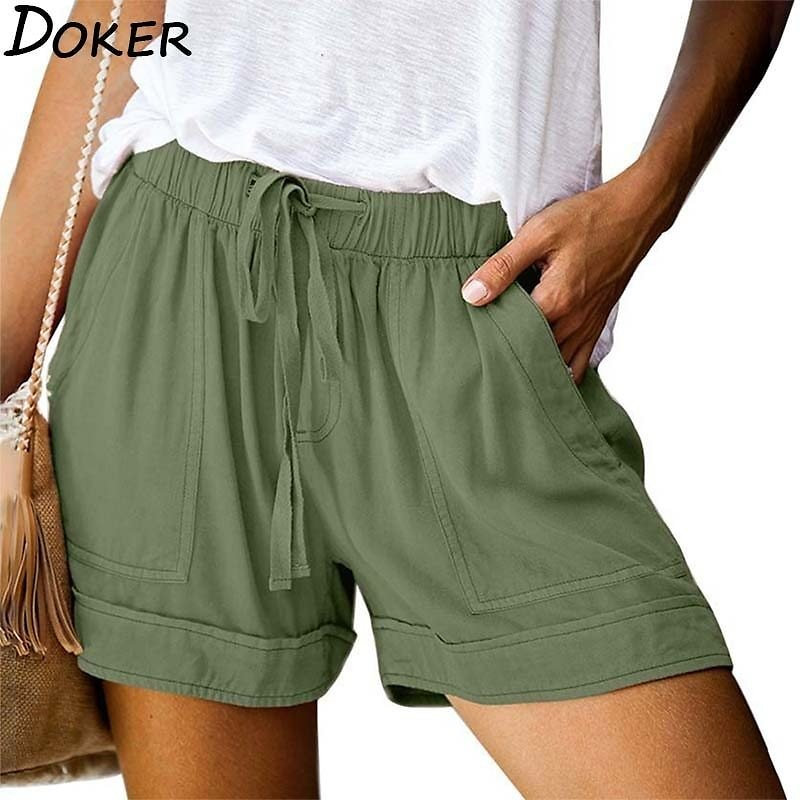 US $7.99 50% OFF|2020 New Summer Plus Size High Waist Women's Shorts Casual Loose Wide Legs Sexy Mini Shorts Women Fashion Push Up Sport Short|Shorts| - AliExpress