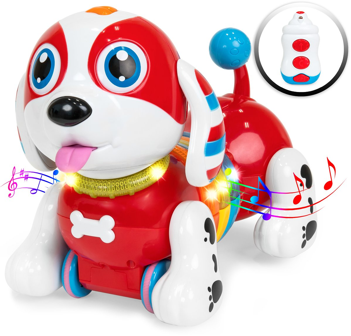 Best Choice Products Kids Interactive Dancing RC Robotic Toy Dog w/ Music, Touch Response, Catchphrases, Light-Up Body