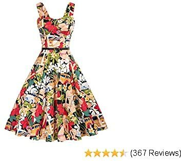 Belle Poque Best Homecoming Retro Vintage Sleeveless V-Neck Flared A-Line Dress BP416