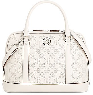 Giani Bernini Perforated Dome Leather Satchel