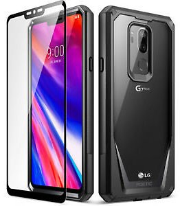LG G7 ThinQ Case,Poetic Armor Shockproof Cover [Free Screen Protector] Black