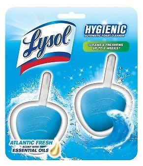2 Ct Lysol Spring Waterfall No Mess Automatic Toilet Bowl Cleaner