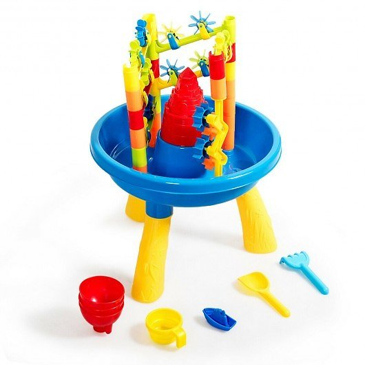 Costway 2 in 1 Sand and Water Table Activity Play Center