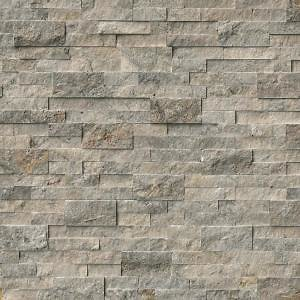 MSI Trevi Gray Ledger Panel 6 In. X 24 In. Natural Travertine Wall Tile (10 Cases / 60 Sq. Ft. / Pallet)-LHDPNLTTRG624