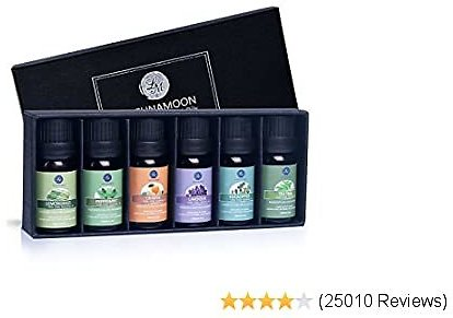 38% OFF Lagunamoon Essential Oils Top 6 Gift Set Pure Essential Oils Aromatherapy Skin & Hair Care