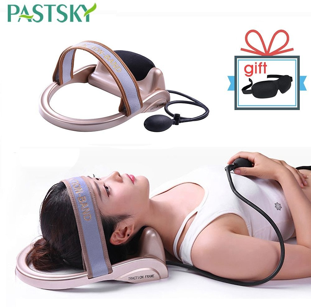 Inflatable Neck Traction Cervical Posture Stretching Device Air Pump Spine Vertebra Correction Tractor Household Massager
