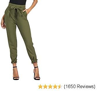 GRACE KARIN Womens Casual High Waist Pencil Pants with Bow-Knot Pockets for Work