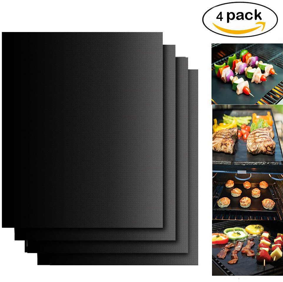 High Quality 4PC Teflon BBQ Grill Mat Nonstick Outdoor Barbecue Baking Cooking Tool