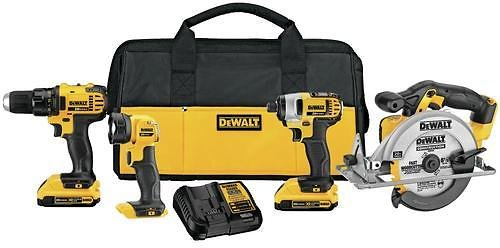 DEWALT 4-Tool 20-Volt Max Power Tool Combo Kit with Soft Case (Charger Included and 2-Batteries Included) Lowes.com