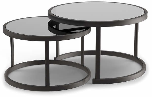 Wilson & Fisher Lakewood Double Round Nested Coffee Tables Set - Big Lots