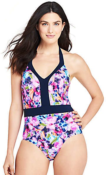 Women's Perfect V-neck One Piece Swimsuit with Tummy Control