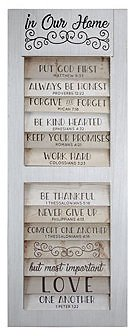 Crystal Art Gallery American Art Decor 10 Bible Quotes to Live By in Our Home Wall Decor & Reviews - All Wall Décor - Home Decor