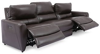 Furniture Danvors 3-Pc. Leather Sectional Sofa with 2 Power Recliners and Power Headrests (2 Colors)