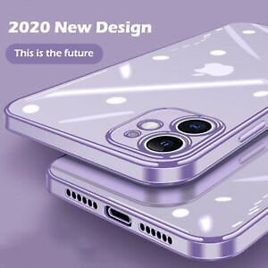 Case For IPhone 11 Pro Max XS XR X 8 7 6 SE 2020 Square Plating Soft Clear Cover