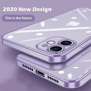 Ultra Slim Plating Clear TPU Square Case Cover For IPhone 11 Pro Max XS XR X 8 7