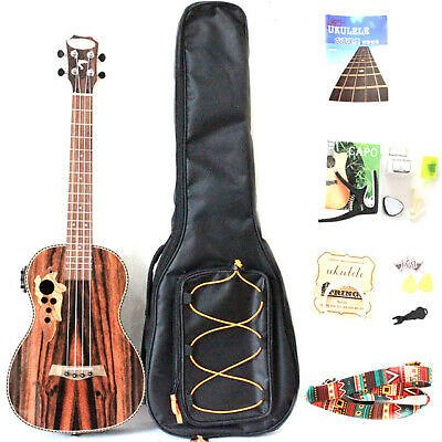 30 Inch All Blackwood Baritone Acoustic Electric Ukulele With Truss Rod with EQ