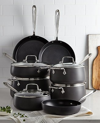 13-Pc Hard-Anodized Cookware Set