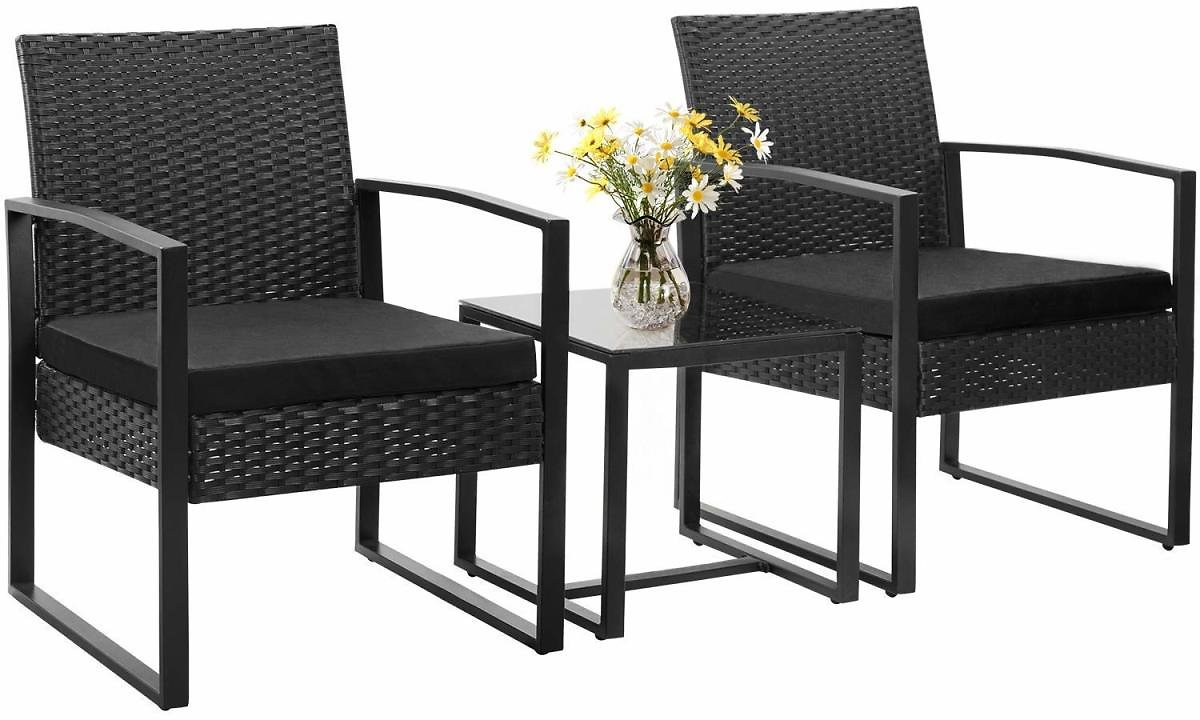 Walnew 3-Piece Bistro Chairs & Table Set JUST $124.99 + FREE Shipping